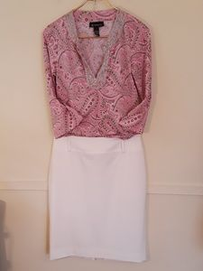 Just the Pink Paisley Tunic Top
